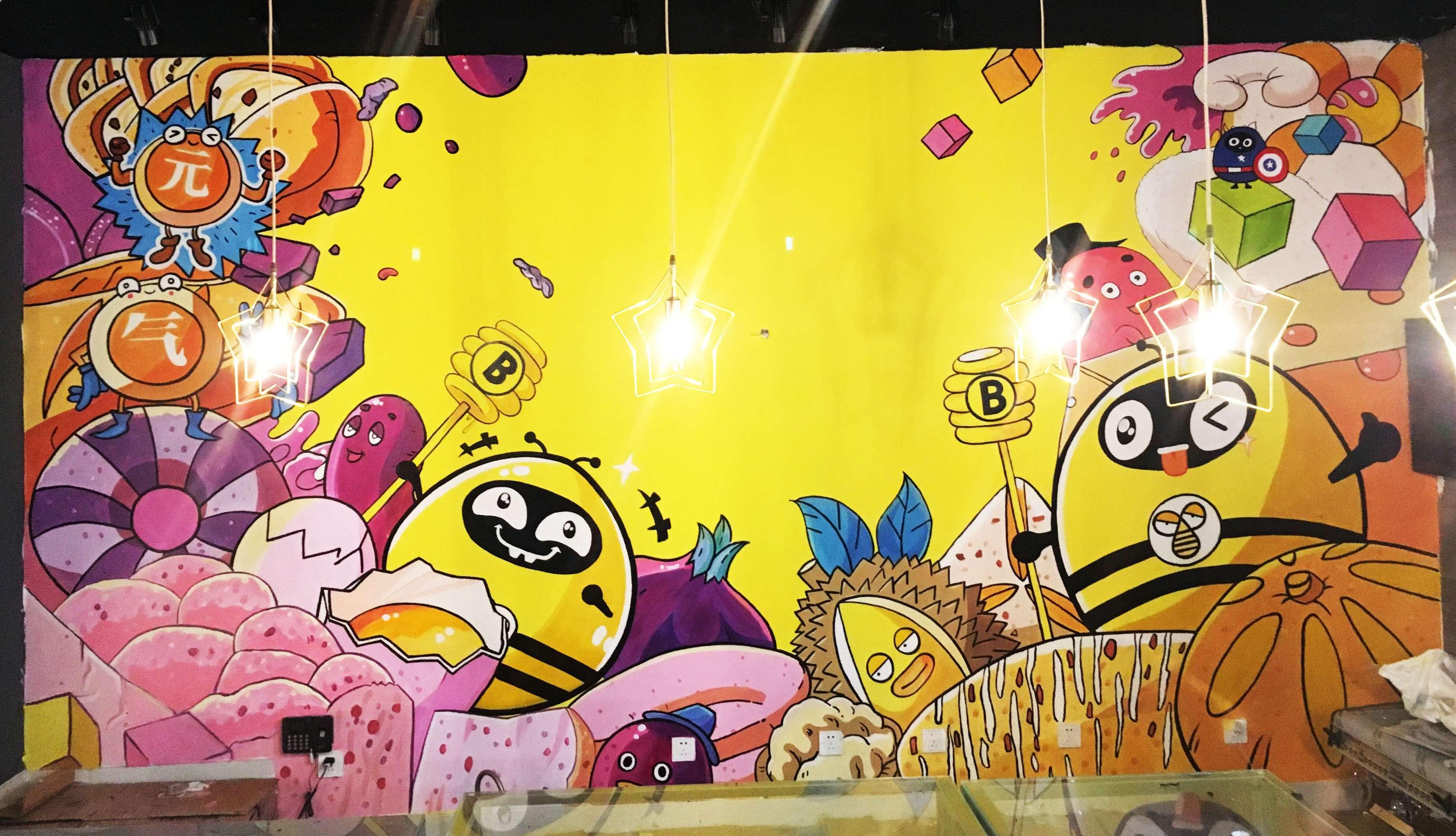 甜品店彩绘